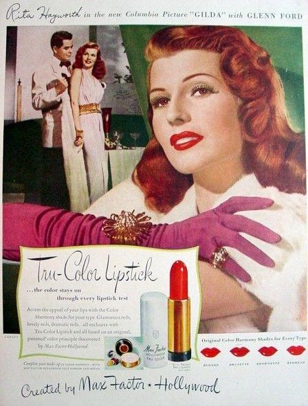 Max Factor ad 1940s