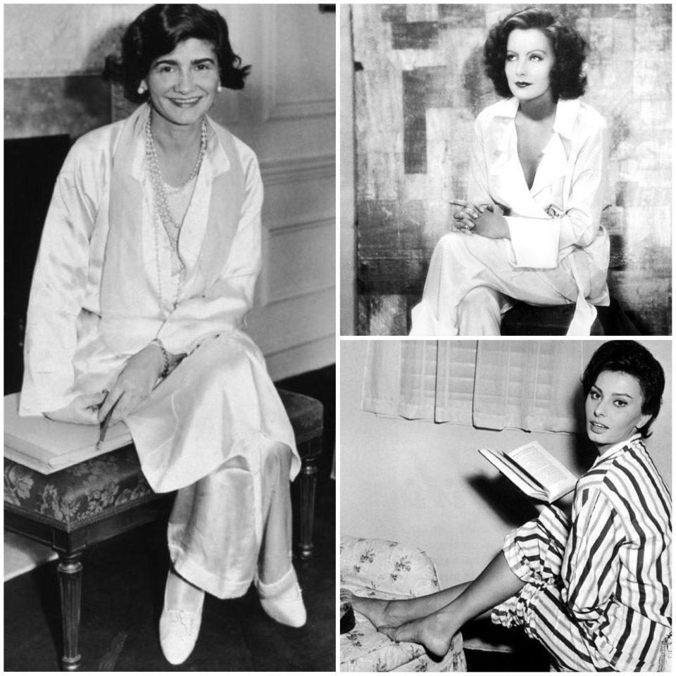 Coco Chanel, Greta Garbo e Sophia Loren in Pigiama