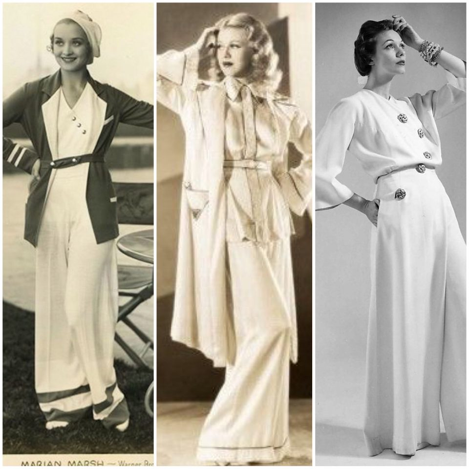 Anni '30/40: Beach e Hostess Pajamas