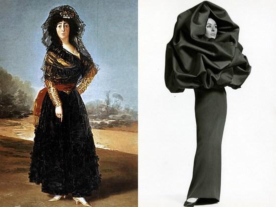 Gova, La Duchessa d'Alba 1797; Balenciaga 1966