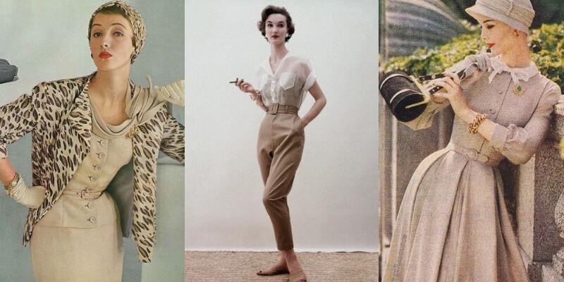 esempi di abiti e pantaloni anni 50