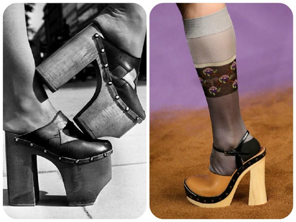 clogs 1970s // Prada SS 2015