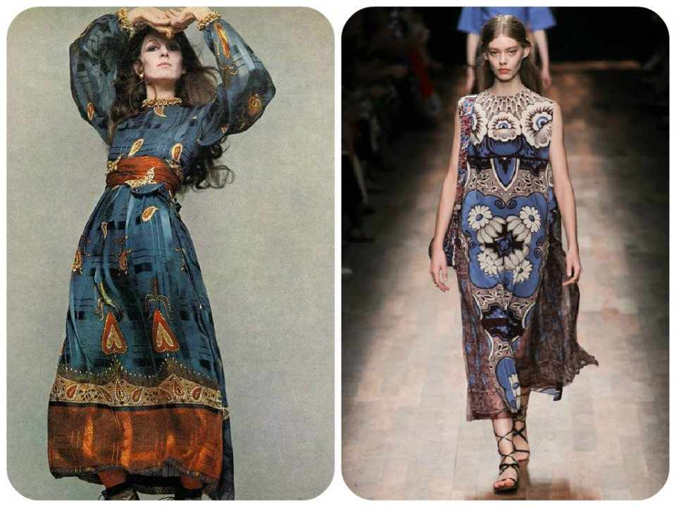 Folk 70s dress valentino ss2015