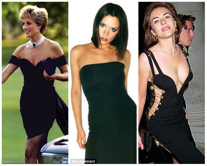 Lady Diana 1994, Posh Spice 1997, Liz Hurley 1994