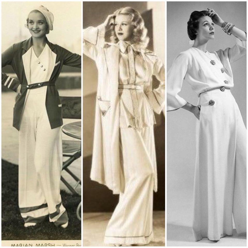 Anni '30/40: Beach e Hostess Pajamas