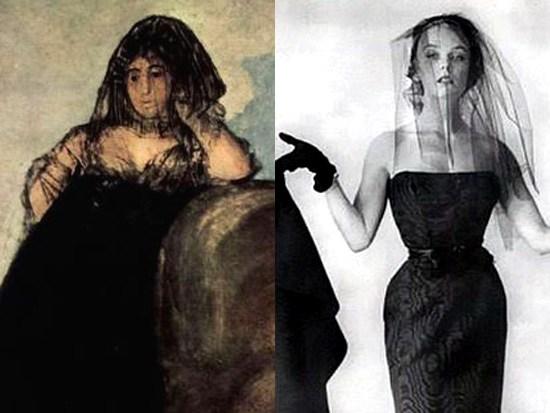 Goya, Manola 1820 ca - Balenciaga 1950s