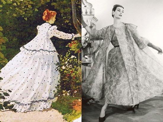 Monet, Donne in Giardino 1866 - Balenciaga 1949