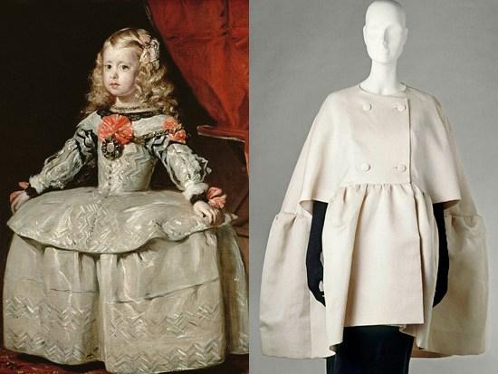 Velzasquez L'infanta Margherita 1660 - Balenciaga Cappa 1963