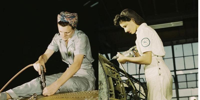 donne anni '40 in fabbrica