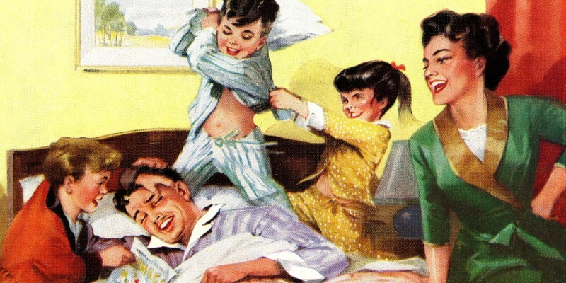 uan famiglia idealizzata dalla pubblicità