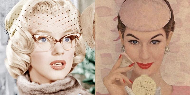 marylin monroe con gli occhiali e dovima in un beauty shoot
