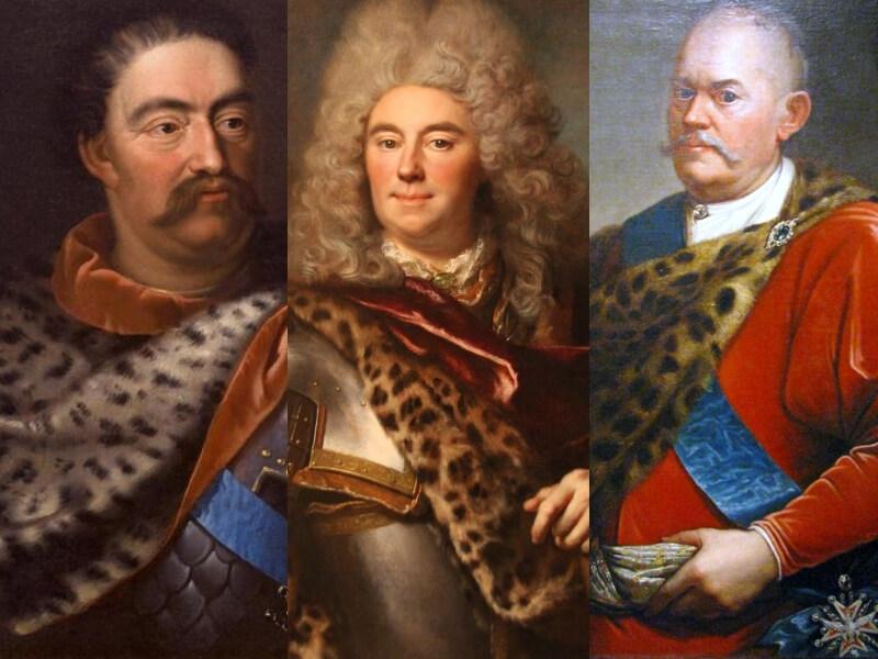 tre ritratti del settecento con motivi leopardati