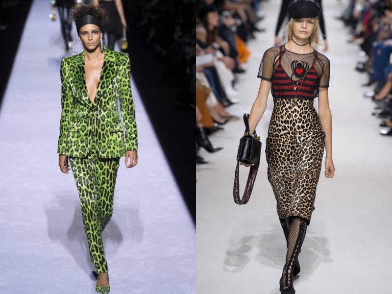 due esempi di leopardato dalle sflate ai 2018