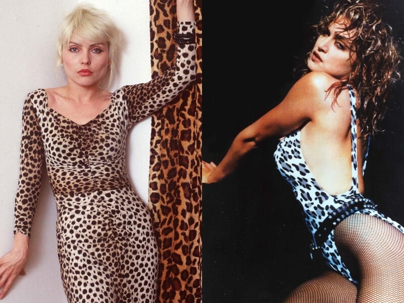 madonna e debbie harry in leopardato