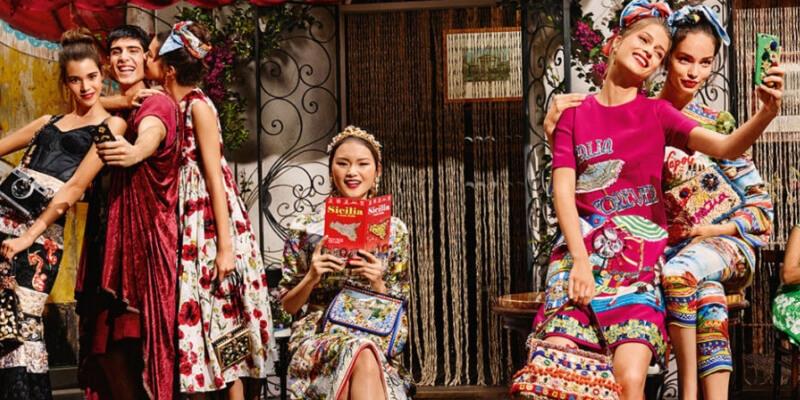una foto pubblicitaria di Dolce&Gabbana
