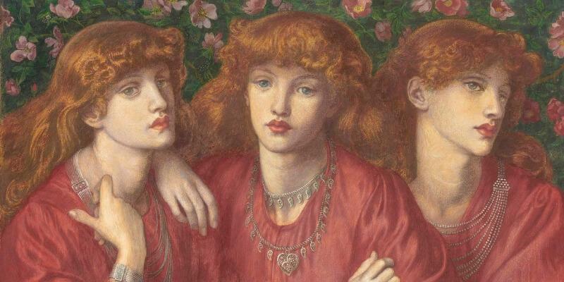 Dante Gabriel Rossetti - Rosa triplex - 1874
