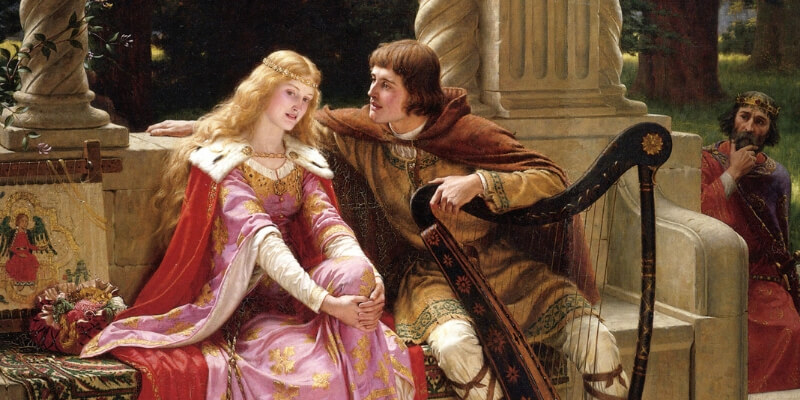 Edmund Blair Leighton - Tristan and Isolde - 1902