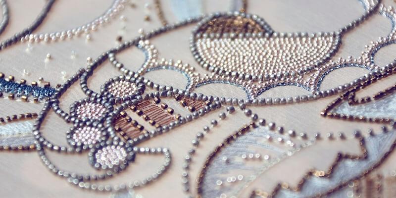 il dettaglio di un ricamo haute couture
