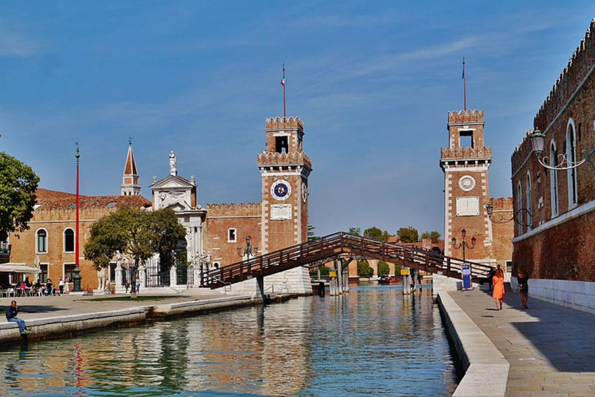 l'entrata marittima dell'arsenale di venezia
